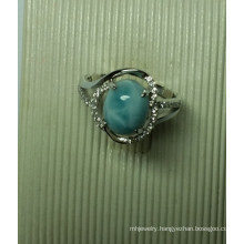 Natural Larimar Sterling Silver Jewellery in Ring (R0293)