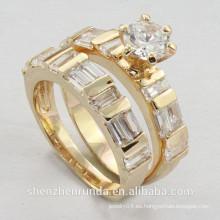 2014 la joyería cristalina de los anillos de la manera de las mujeres al por mayor