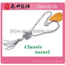 moda colar cordão cadeia de borla fornecimento de jóias por atacado