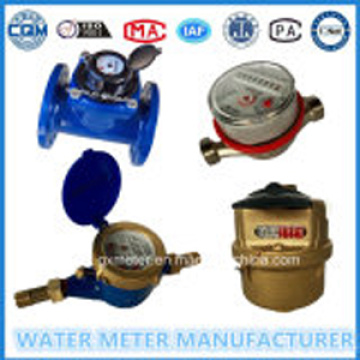 Mechanical water meter with different materials