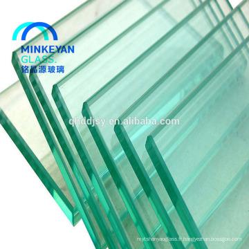 Portes en verre trempé intérieures de glissement de l'aluminium transparent de 8mm 10mm 12mm
