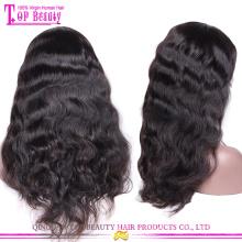 Nouveau mode partie médiane brésilien pas cher cheveux humains perruques de lacet pour les perruques de lacet de petites têtes à Dubaï