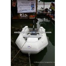 (CE) aluminum floor folded pvc material rubber boat