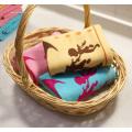 Serviette en gaze de coton avec jacquard teint en fil