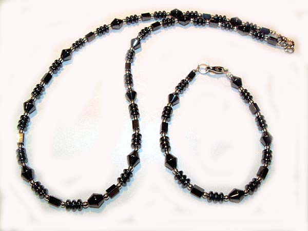 Hematite Set Gray Jewelry