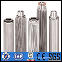 Stainless steel filter for gas