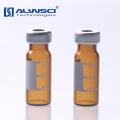 Flacon de verre ambré autocollant 11mm à crippage 1.5mm avec étiquette pour injection