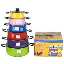 Juego de utensilios de cocina de acero inoxidable con impresión en color