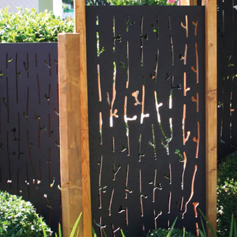 Laser Cut Steel Fence