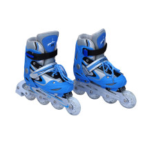 Semi-Soft Sports Blue Inline Patins