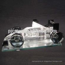 Venda quente de cristal modelo de carro com logotipo para corridas de souvenirs, carro de cristal