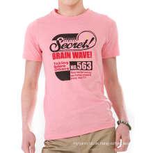 Rosa Bildschirm Baumwolle Mode Großhandel benutzerdefinierte Männer Tshirt