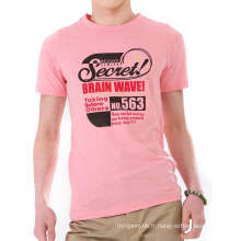 Écran rose coton Fashion gros hommes personnalisés Tshirt