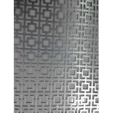 Painel decorativo de metal perfurado