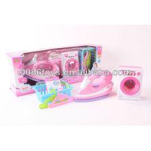 BO juguetes perchas ropa de la caja de lavado de juguete juguete de hierro