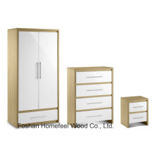 Высокий УФ-глянцевый комби-шкаф для спальни (BD22)