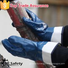 SRSAFETY safety gloves heavy duty gloves working gloves nitrile gloves/Nitrile coated hand work gloves/Nitrile cheap glove