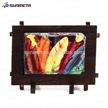 Sunmeta sublimation cadre en pierre de bois cadre suspendu SH38 17 * 12cm