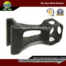 Черный анодированный CNC подвергал алюминиевые части кронштейна