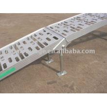 Désactiver la rampe de service moyen avec de l'aluminium