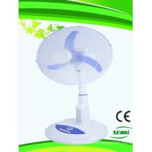 Ventilador de mesa con ventilador solar de 18 pulgadas Ventilador de mesa con ventilador de mesa DC12V