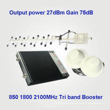 Tri Band CDMA 850 1800 2100MHz Amplificadores de señal de teléfono celular