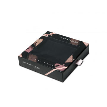 Foil Stamping Eyeshadow Palette Box With Ribbon