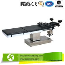 Mesa de operação manual com suporte de braço