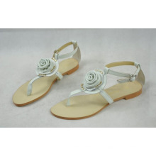 Sandalias planas de las señoras del estilo del estallido (Hcy02-101)