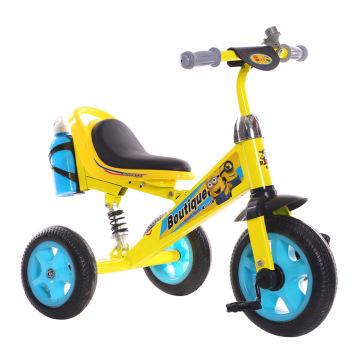 Nuevo triciclo del metal de los niños del diseño de la historieta con la campana