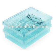 Plástico doble capas Bandeja de trabajo óptica Bandeja de laboratorio