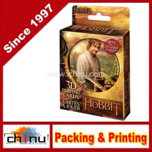 La carte de jeu de pont lenticulaire Hobbit 3D en étain (430189)