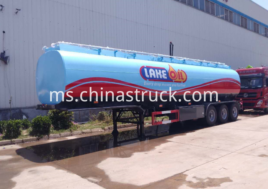 3 axle 45CBM LAKE OIL tank semi-trailer