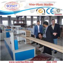 poste de la cerca de madera plástico compuesto wpc decking línea de producción