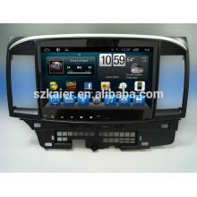 Lecteur DVD de voiture, usine directement! Quad core android pour voiture, GPS / GLONASS, OBD, SWC, wifi / 3g / 4g, BT, pour MITSUBISHI Lancer EX