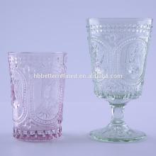 En relieve Bunny Vaso vaso de vidrio para la Pascua