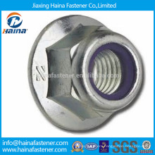 Stainless steel metric hex flange stop lock nut