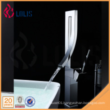 China wholesale water tap mixer single handle fancy bathroom sink faucets