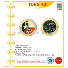 Gold Plating Metal Moeda comemorativa, moeda de lembrança para a força aérea / exército