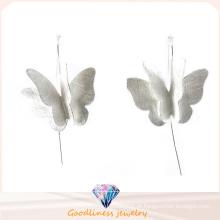 Brinco da borboleta da prata esterlina 925 para a jóia da forma da mulher (E6573)