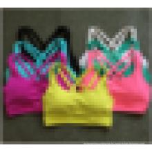Moisture Wicking Seamless Mujeres Active Workout Cruz de espalda Sports Top Yoga Bra