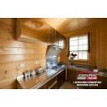 Cabine de madeira luxuosa popular em madeira pré-fabricada