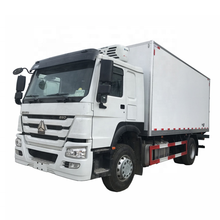 Sinotruck Howo refrigerated/refrigerator truck for milk/fruit/seafood /meat/vegetable to Africa Market