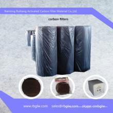 tissu de coton de charbon actif