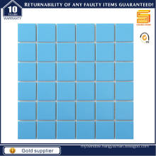 48*48mm Swimming Pool Blue Ceramic Mosaic