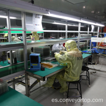 Pad Screen ESD PVC Belt Conveyor Assembly Line