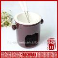 Ceramic mini fondue set, cheese fondue set