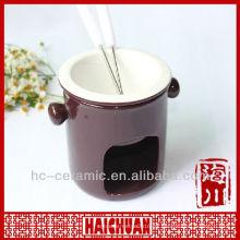 Juego de fondue de cerámica mini, fondue de queso set
