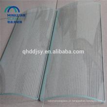 vidro moderado de impressão de seda curvado liso para a janela vidro do teste padrão de 4mm a de 19mm
