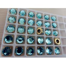 Perles de verre à dos plat